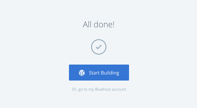 Bluehost Done