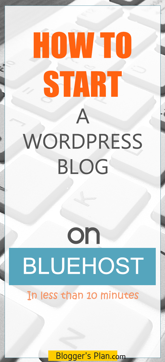 Learn how to start a wordpress blog on bluehost in less than 10 minutes by following this simple step by step tutorial for dummies! Start your first (or next) blog and continue making a blog success career by following further easy tutorials and tips of how to make money blogging and other blogging essentials for beginners.