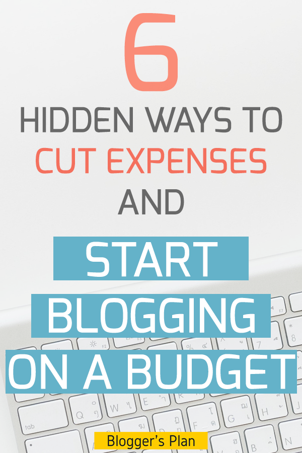 how to start blogging on a budget